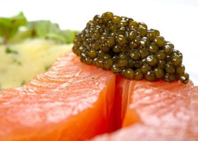 Saumon d'Ecosse mariné au sel de Maldon